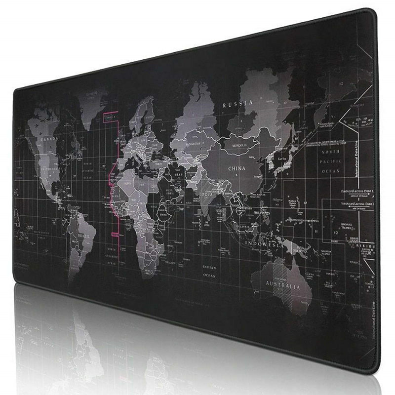 Old World Map Large Gaming Mouse Pad Lockedge Mouse Mat Keyboard Pad Desk Mat Table Mat Gamer Mousepad For Laptop Notebook Lol