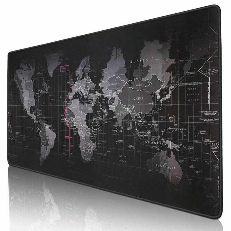 Peta Dunia Lama Besar Gaming Mouse Pad Penguncian Alas Mouse Keyboard Pad Meja Tikar Tikar Meja Gamer Mousepad untuk Laptop notebook Lol