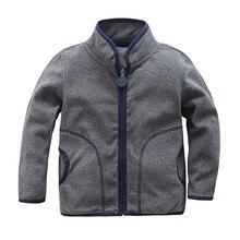 Warm Soft Polar Fleece Child Coat Baby Girls Boys Jackets Windproof Children Outerwear Clothing Kids Outfits For 75-125cm цены