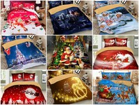Christmas series Santa Claus Xmas printed Duvet / Quilt Cover set HD printed bed linens set queen twin bedding set 3pcs