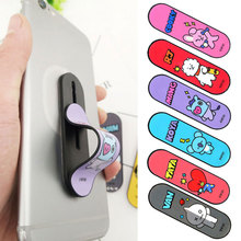 KISSCASE Cartoon Push-pull Ring Stand Multi-function Flexible Bracket For iphone Samsung