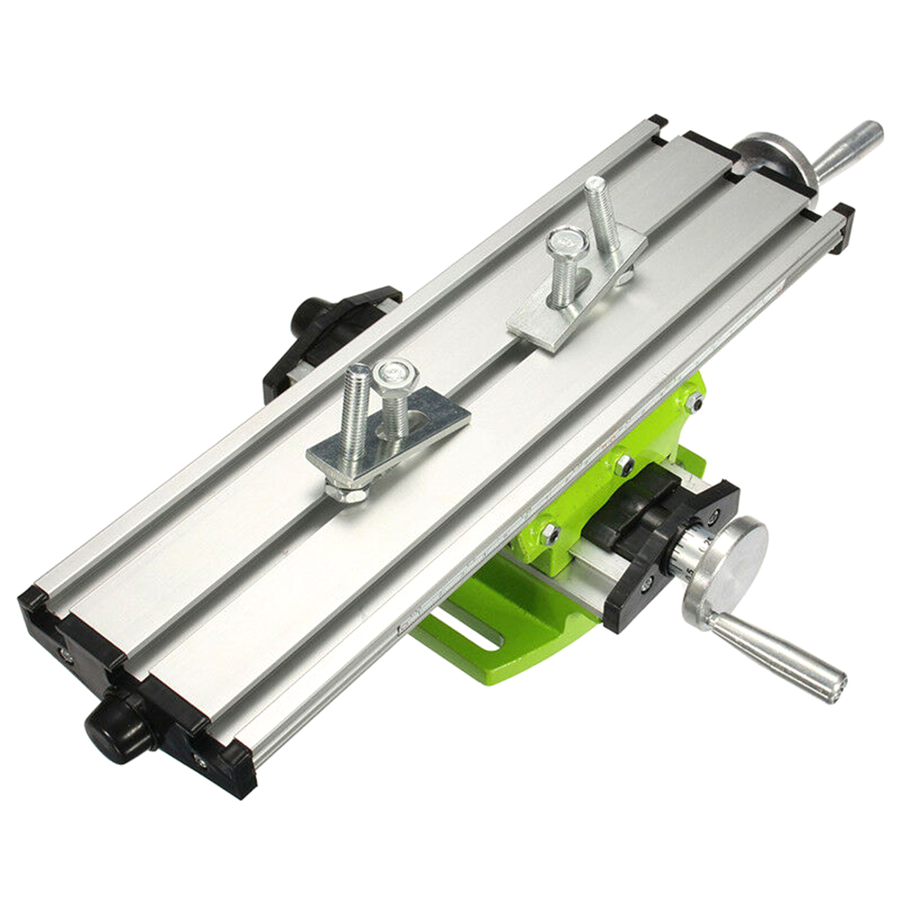 Multi-function Mini Precision Woodworking Milling Machine Bench Drill Vise Fixture Work Table Working Size 310 * 90mm