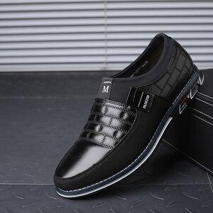 Image 3 - עור גברים נעליים יומיומיות 2019 מותג Mens ופרס מוקסינים לנשימה להחליק על שחור נהיגה נעלי גדול גודל