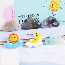10 Pcs Resin Cartoon Sun Moon Cloud Slime Mud Clay Charm Filling Accessories Kids Toy Hair Accessories Handmade DIY Accessories