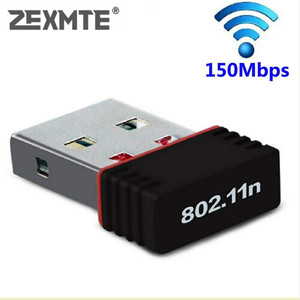 ZEXMTE Mini Wireless Network Card 150Mbps USB WiFi Adapter for PC Laptop Support window 10 8 7 MAC 2.4Ghz wireless adapter(China)