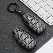 Carbon Fiber Remote Car Key Case Shell For Ford Fiesta Mondeo Ecosport Kuga Focus ST C-Max B-Max Focus 3 MK3 MK4 escape key bag