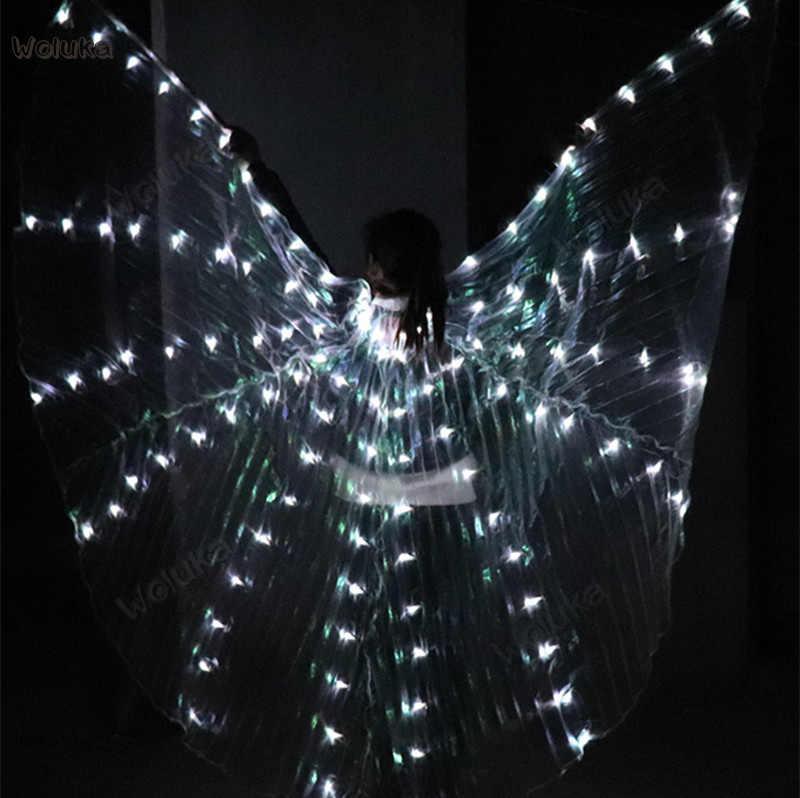 Asas de borboleta dança manto de luz DIODO EMISSOR de LUZ fluorescente arranjo vertical de luz linha ballet traje de dança do ventre CD50 W02