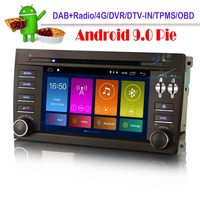 7 Android 9.0 Car Sat Nav Radio Radio DAB DSP DVD CarPlay WiFi 4G DVT IN Car GPS Navigation Player for Porsche Cayenne