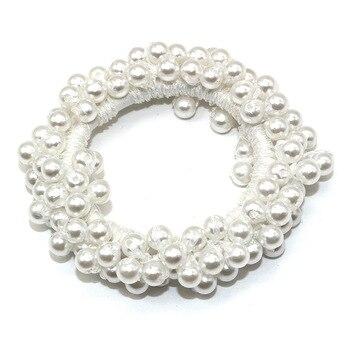 14 Colors Woman Elegant Pearl Hair Ties Beads Girls Scrunchies Rubber Bands Ponytail Holders Hair Accessories Elastic Hair Band 42