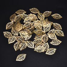 Pendant Jewelry Filigree Diy-Accessories Coronet Chinese-Costume Metal-Leaves Bride 50pcs