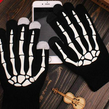 Cycling-Gloves Bicycle Knitting Cool Black Kids Outdoor Sports Autumn Winter Children