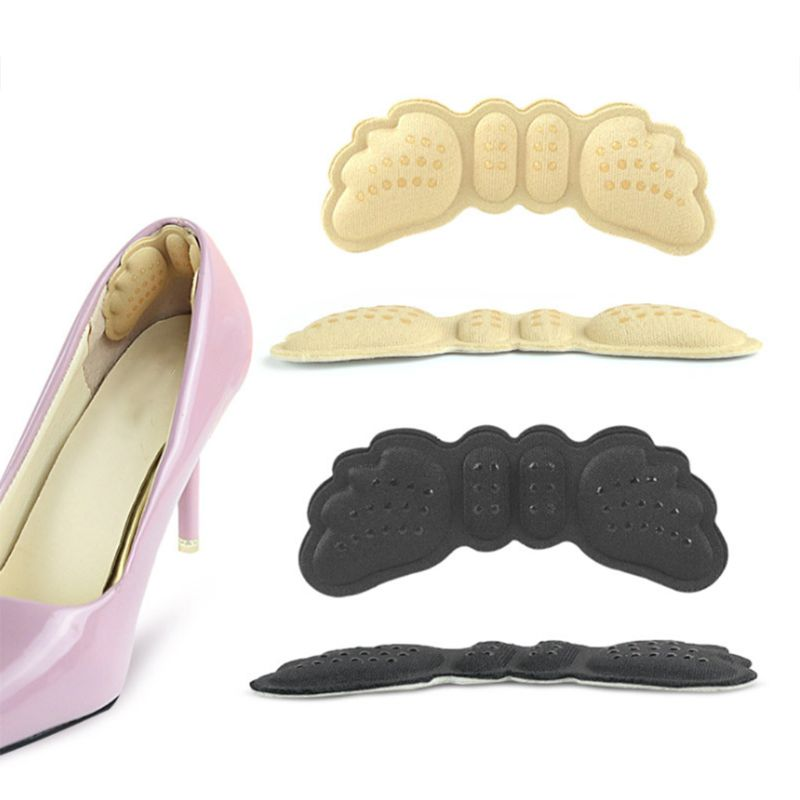 1 Pair Shoes Back Heel Grip Pads Cushion Liner Rubber 4D Grains Massage Non-slip