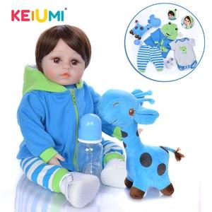 KEIUMI Silicone Reborn Baby Dolls Boy 48 CM Realisting Reborn Boneca 18 Inch Kids Playmate Toddler Surprise(China)