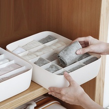 Household Underwear Sock Storage Box PP Plastic Universal Cover pure color For Home