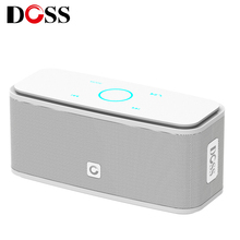 DOSS SoundBox dokunmatik pembe Bluetooth hoparlör 2*6W taşınabilir kablosuz hoparlörler Stereo ses kutusu bas Parlante bluetooth sütun