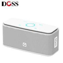 DOSS altavoz estéreo SoundBox con Bluetooth, altavoz inalámbrico portátil de 2x6W con pantalla táctil, altavoz de graves, columna bluetooth