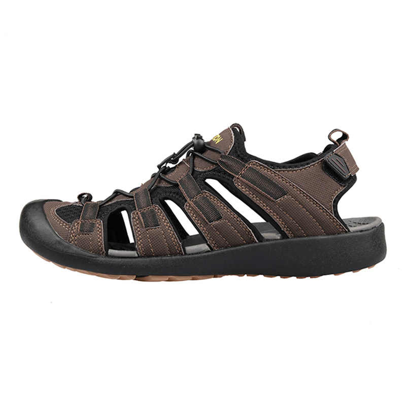 GRITION الرجال الصنادل الصيف Nubuck الجلود شقة المشي أحذية رياضية في الهواء الطلق الرحلات الذكور الشاطئ خفيفة الوزن موضة أحذية كبيرة الحجم