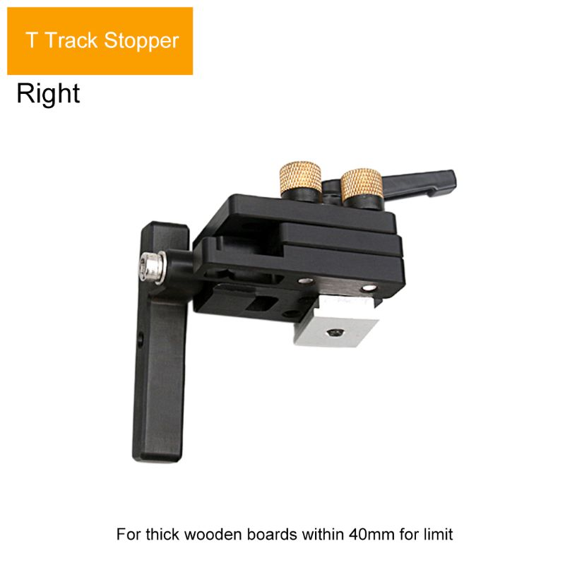 Miter Track Stop For T-Slot T-Tracks Stop Chute Limiter Locator Woodworking DIY Manual Durable Tool In Use