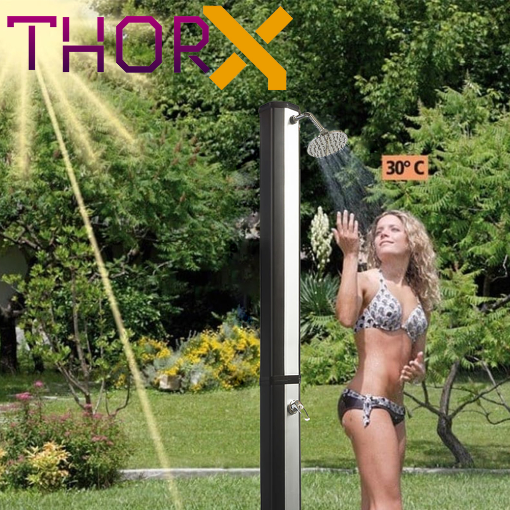 Solar shower ThorX TR35OX silver garden shower 35 L - 3