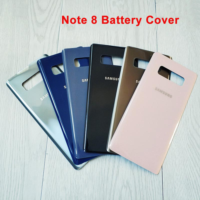 Voor Samsung Galaxy Note 8 Cover Note8 N950 N950F Terug Batterij Case 3D Glas Behuizing Cover Voor Samsung Note8 + sticker title=