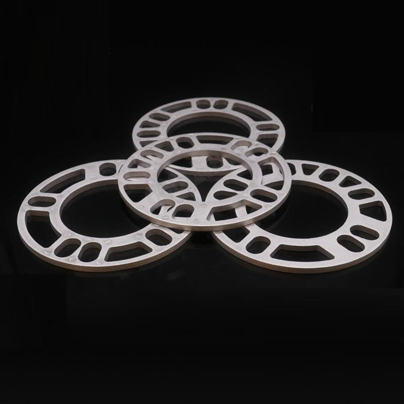 2pcs 3mm/5mm/8mm/10mm Car Aluminum Alloy Wheel Spacer Shims Plate  For 4 Hole Wheel Hub 4X98 4X100 4X108 4X114 Car Accessaries