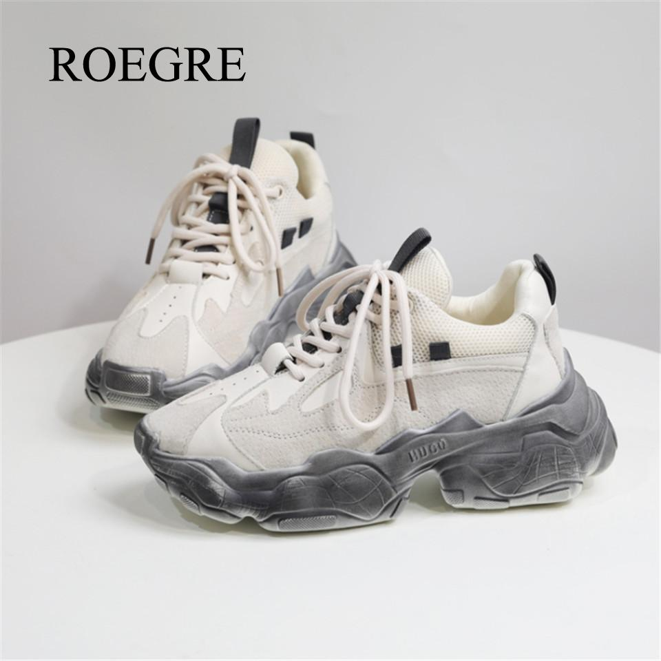 Women's Sports Old Shoes 19 Europe And The United States New Spring And Autumn Fashion Casual Net Red Old Dirty Dirty Shoes Tide
