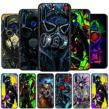 Dj homem anti-queda máscara anti-queda caso para honra 9x lite pro 9a 9c 9s 8s 20 8x fundas tpu pára-choques coque silicone macio preto casos