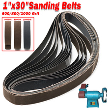 """15pcs 1""""*30"""" Grinding and Polishing Replacement Sanding Belt Paper 600/800/1000 Grit for Angle Grinder Machine 25 *762mm"""