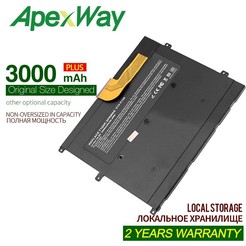 ApexWay 11.1v 3000mAh Laptop Battery For Dell 0NTG4J 0PRW6G 0449TX PRW6G T1G6P,for Dell Vostro  V13  V13Z  V130  V1300