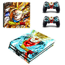 Son Goku Style Skin Sticker for PS4 Pro Console And Controllers Decal Vinyl Skins Cover YSP4P-3303