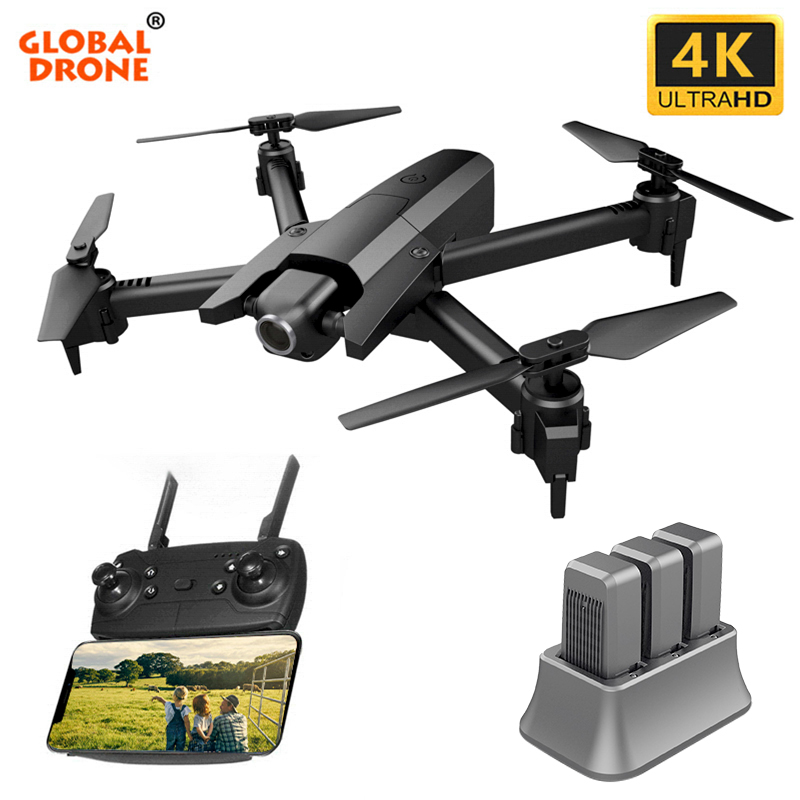Global Drone 4K Drone Quadrocopter Dron Long Fly Time RC Helicopter Selfie Drones With Camera HD VS SG901 SG106 XS816 E58 E520