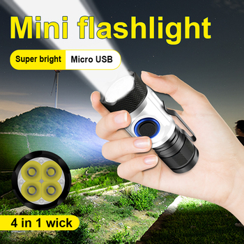 8000 lumen most powerful led flashlight torch mini usb 4*XPG LED tactical waterproof rechargeable 18350/18650 battery camp light