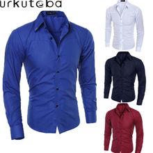Модные деловые рубашки для мужчин разных классических мужских горячая распродажа новый твердый Джентльмены основной длинным рукавом футболки