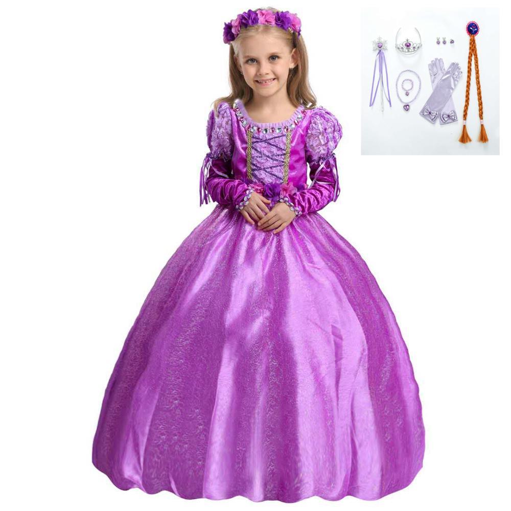 Vestido infantil Rapunzel de Navidad de Sr. narration Qing, vestido de princesa violeta, vestido de princesa Sophia 40 unids/lote 50mm Bola de lámpara de cristal transparente con agujero, atrapasoles de ventana adornos de Navidad colgantes, bola de cristal facetada