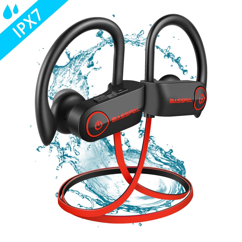 BassPal U14 Wireless Earphones Waterproof IPX7 Sport Bluetooth Headphones W/Mic Richer Bass HD Stereo Sweatproof In Ear Earbuds