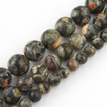 Pick 6 8 10 mm Natural Green Jasper Old KAMBABA Round Loose Stone Beads For Jewelry Making DIY Bracelets Necklace Charms 15 inch