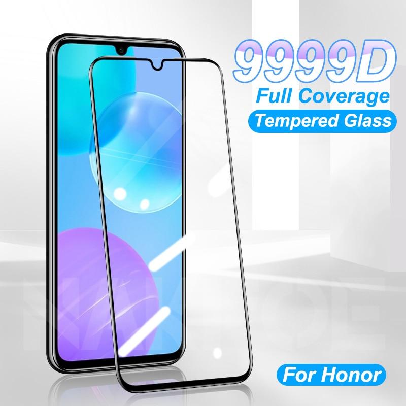 Закаленное стекло для Huawei Honor 30 20 10 9 Lite V30 V20 V10 20E 30i 20i 10i