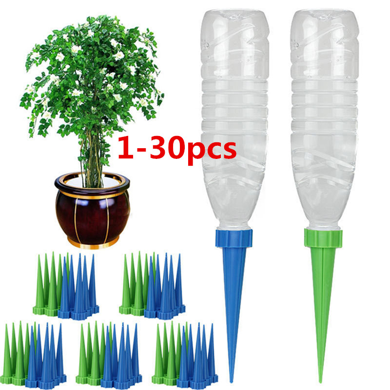 1/10/20/30PCS Automatic Garden Cone Watering Spike Plant Flower Waterers Bottle Irrigation System Cleaning Garden Tools