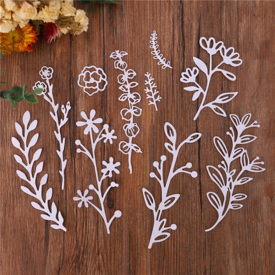 Leaf Branch Frame Metal Cutting Dies Greenery Mold Cut Die Scrapbook Embossing Card Paper Craft Knife Mould Blade Punch Stencils
