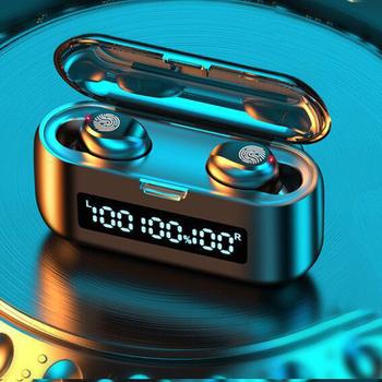 Bezprzewodowe douszne słuchawki Bluetooth V5 1 LED etui z funkcją ładowania 22000Mah Power Bank głęboki bas słuchawki Stereo słuchawki sportowe W Mic tanie i dobre opinie punnkfunnk NONE Dynamiczny CN (pochodzenie) Prawdziwie bezprzewodowe 103dB Zwykłe słuchawki do telefonu komórkowego Słuchawki HiFi