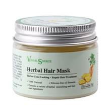 Травяная маска для волос имбирный женьшень полигональный уход