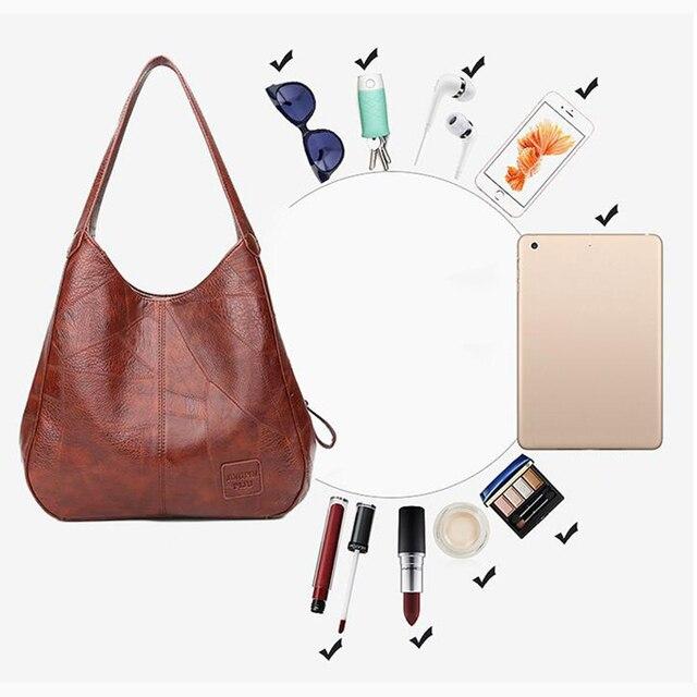 Vintage Women Hand Bag Designers Luxury Handbags Women Shoulder Bags Female Top-handle Bags Fashion Brand Handbags 5
