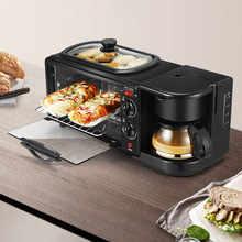 3 in 1 Frühstück Maschine 1050W Multifunktionale Backofen Non-Stick Grill für Nachmittag Tee Abendessen