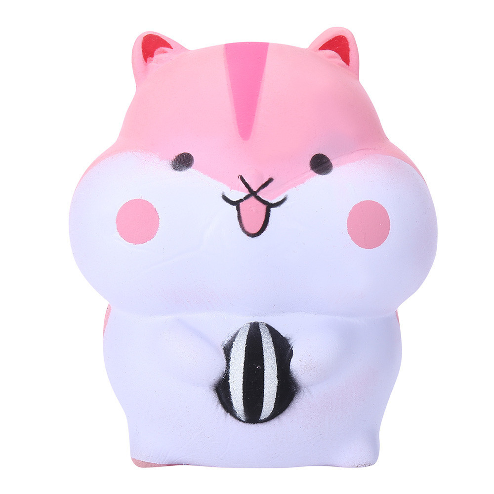Cute Hamster Squishy Toy Decompression Slow Rebound Toy Slow Rising Squeeze Kids Toys Boys Girls Home Decoration #B
