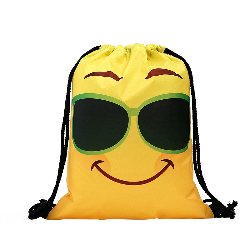 Drawstrin Yellow Backpac Kdrawstring Bag Fashion Women Printing Travel Softback Men Casual Bags Women's Shoulder Funny New 3D