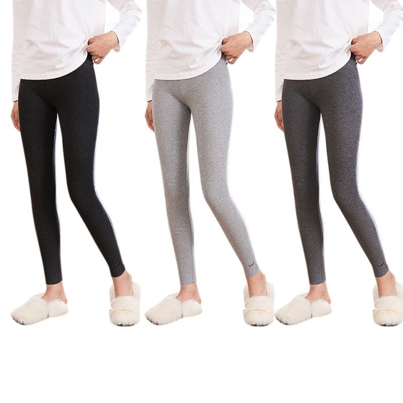 Hot Sales Women Solid Color Threaded Cotton Embroidery Letters Skinny Leggings Stretchy Elastic Nine Points Trousers.w