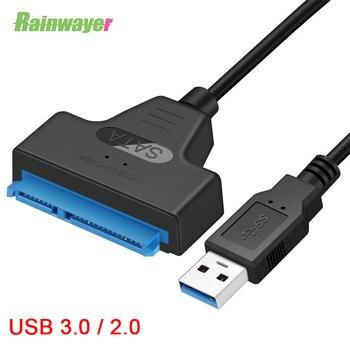 Usb sata cabo sata 3 para usb 3.0 adaptador de cabos de computador conectores usb sata adaptador cabo suporte 2.5 polegadas ssd hdd disco rígido