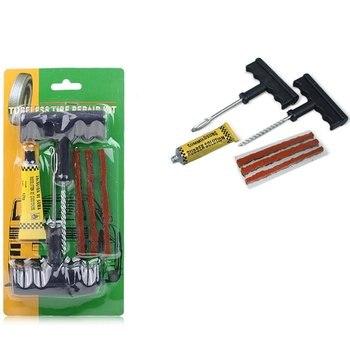 Nuevo Kit de herramientas de reparación de perforaciones de neumáticos, sin cámara, para motocicleta y coche, herramienta de reparación de neumáticos