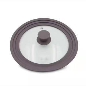Image 5 - Utensilios de cocina tapa de cristal de silicona antiexplosión anticaída olla multifunción Wok cazuela redonda de alta temperatura tapa para Cocina