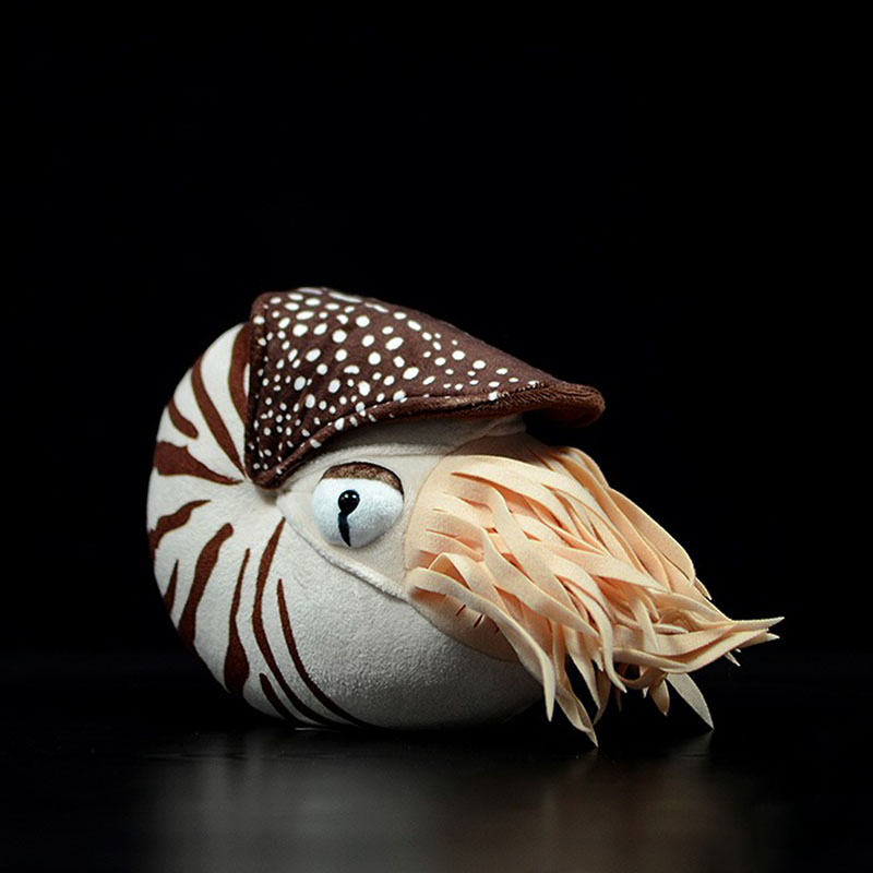 Lifelike Nautilus Plush Toys Real Life Chambered Nautilus Stuffed Animal Toy Soft Sea Life Toys Gifts For Kids